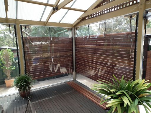 Cafe Style Clear Blinds - Viewblinds