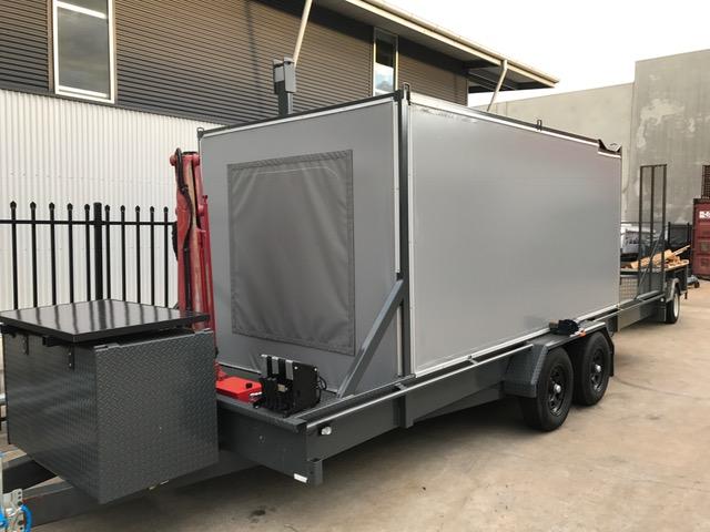 Custom walls for car trailer
