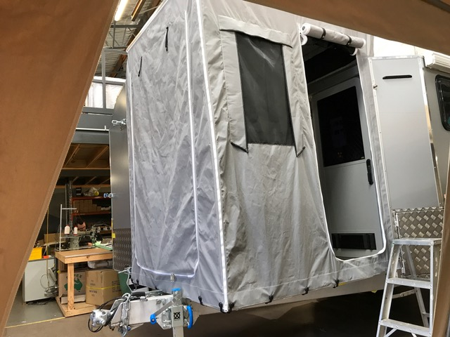 custom pop top surround and front Annexe for custom made camper trailer/ caravan