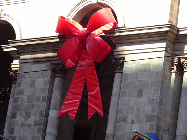 Adelaide Town Hall Christmas Bow