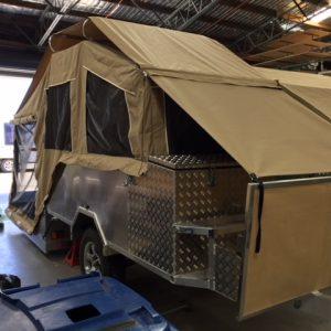 custom canvas for hard floor camper