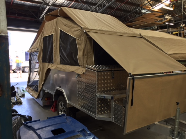 custom canvas for hard floor camper