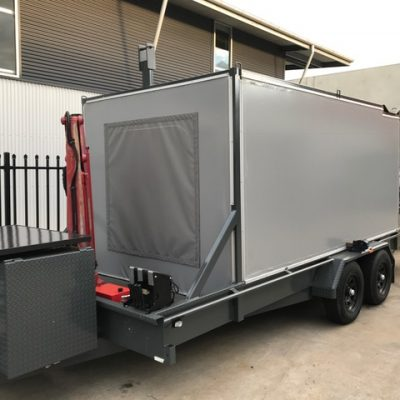 Custom walls for car trailer