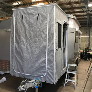 custom pop top surround and front Annexe for custom made camper trailer/ caravan